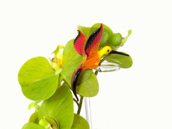 Bienenfresser Blumenstab / Orchideenstab aus Glas
