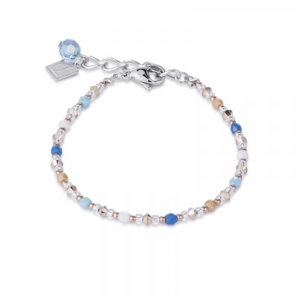 Armband Swarovski® Kristalle & Edelstahl aqua-blau 4951_30-2007