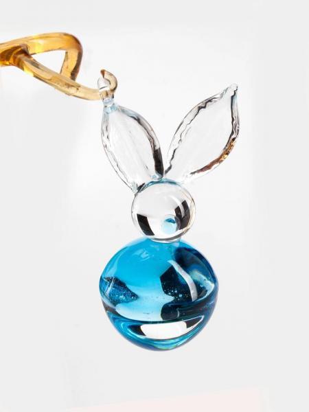Stilisierter Osterhase Blau aus Glas BC-SH-BL