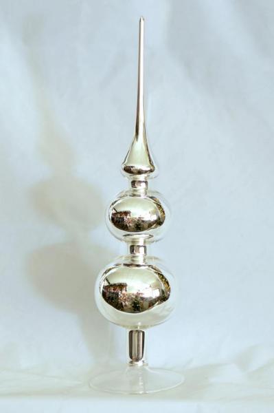 Silber Uni Spitze mit 8er und 7er Kugel (H:31cm) SIU_SP87