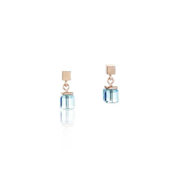 Ohrringe Swarovski® Kristalle & Edelstahl roségold multicolor
