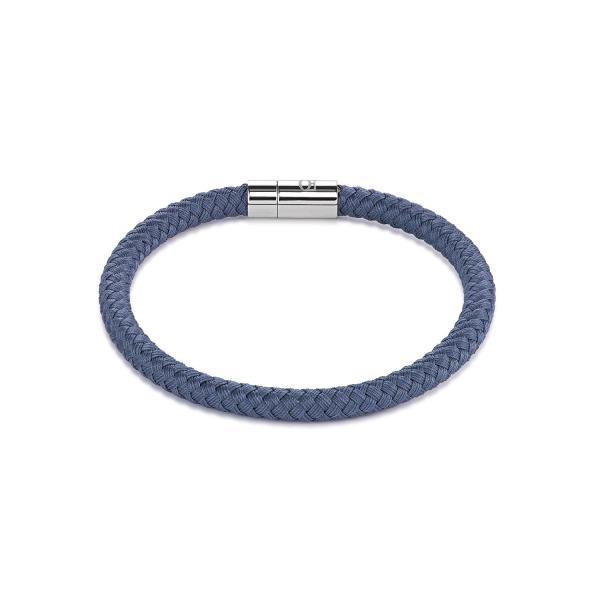 Armband Textil Magnetverschluß blau-grau 0115_31-0721