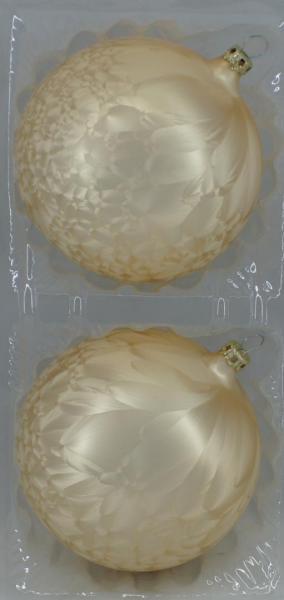Eischampagner Uni Kugeln 10cm - 2er Set
