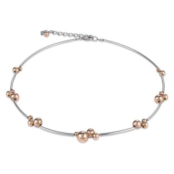 Halskette Kugeln Edelstahl roségold-silber 4983_10-1631