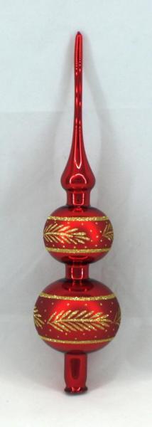 Rot Spitze mit 8er und 7er Kugel (H:32cm) R_SP87
