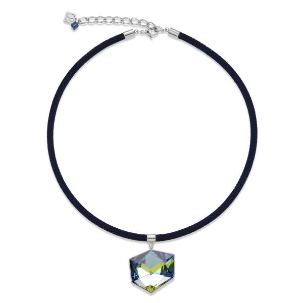 Halskette Swarovski® Kristalle & Mesh blau-grün