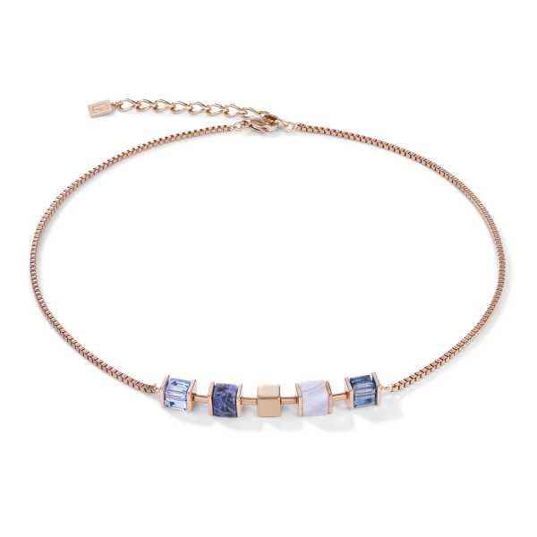 Halskette GeoCUBE® & Kette blau
