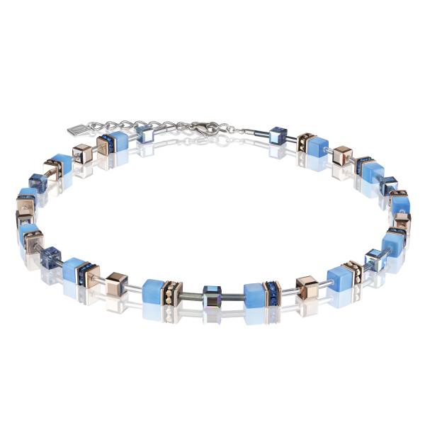 GeoCUBE® Halskette blau