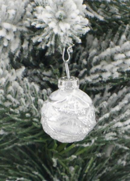 Eisweisssilber Christrose 3cm