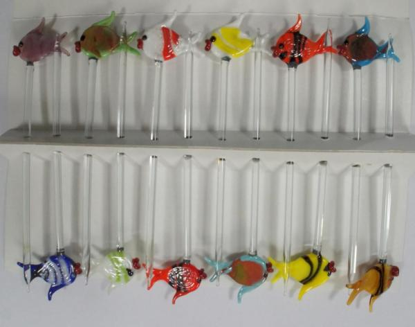 Bowlespieß Fische bunt sortiert 12er Set