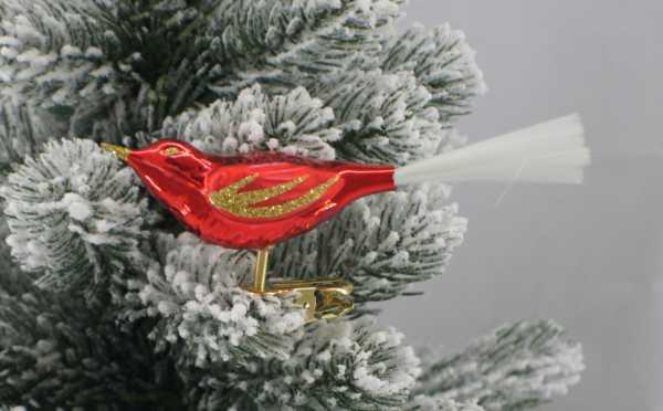Rot Vogel mit Glasfaser Feder