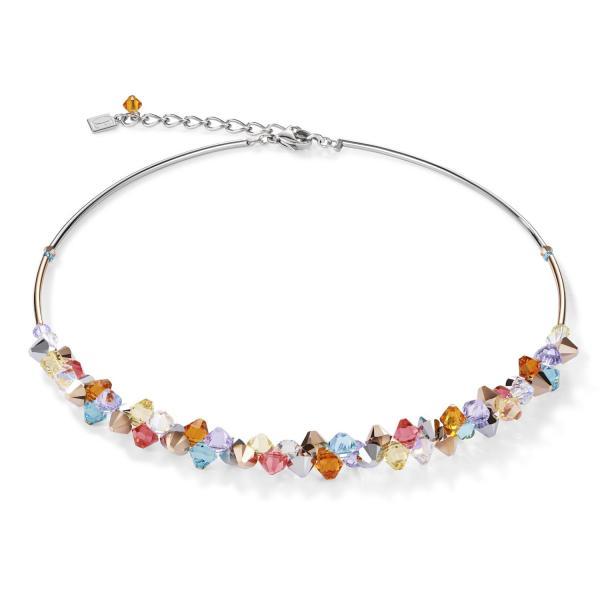 Halskette Swarovski® Kristalle & Edelstahl multicolor pastell 1