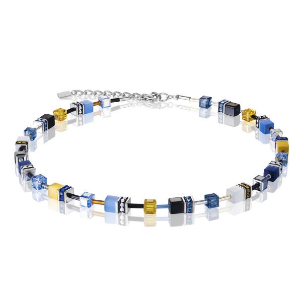 GeoCUBE® Halskette blau-gelb