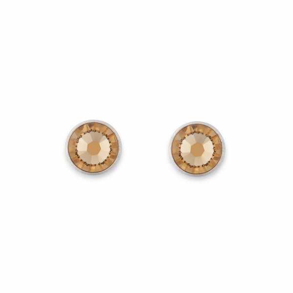Ohrringe Swarovski® Kristalle beige