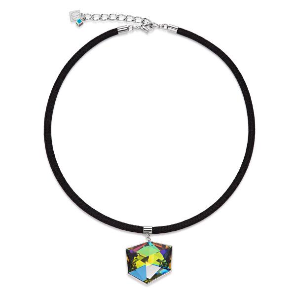 Halskette Swarovski® Kristalle & Mesh multicolor