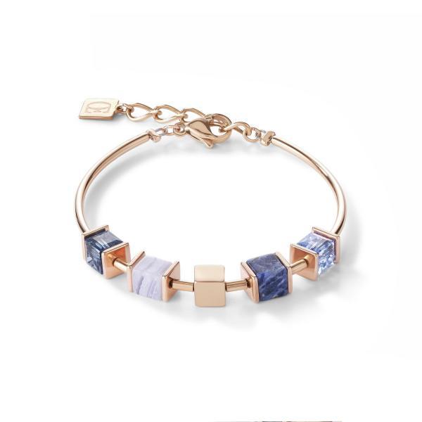 Armband GeoCUBE® & Kette blau 5052_30-0700