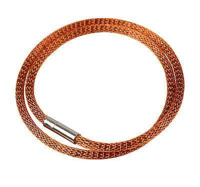 Armband Mesh versilbert & emailliert orange 0111_31-0200