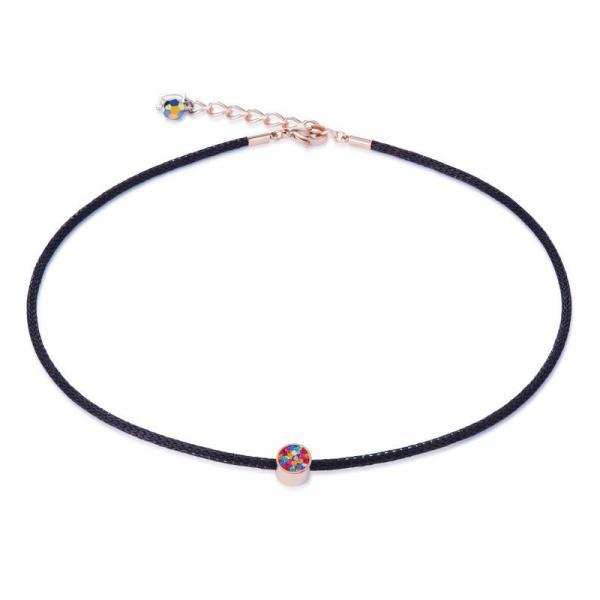 Halskette Kristalle Pavé & Mesh multicolor