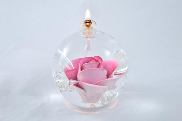 Öllampe mit rosé Rose OL_R_RE