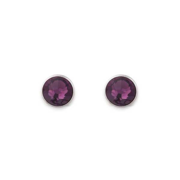 Ohrringe Swarovski® Kristalle violett