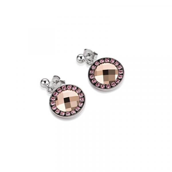 Ohrringe Swarovski® Kristalle Edelstahl rosa