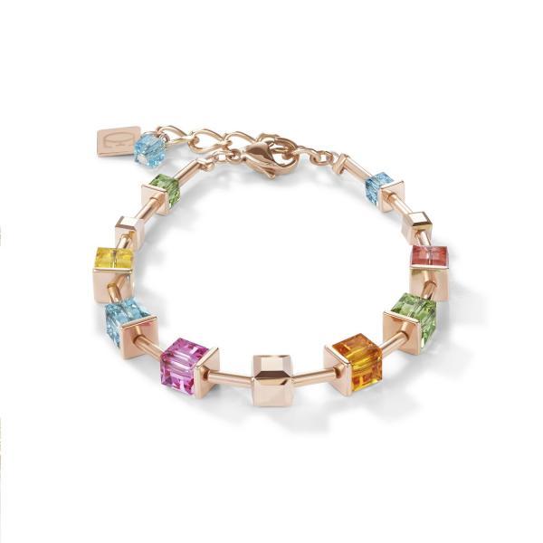 Armband Swarovski® Kristalle & Edelstahl roségold multicolor 4996_30-1500