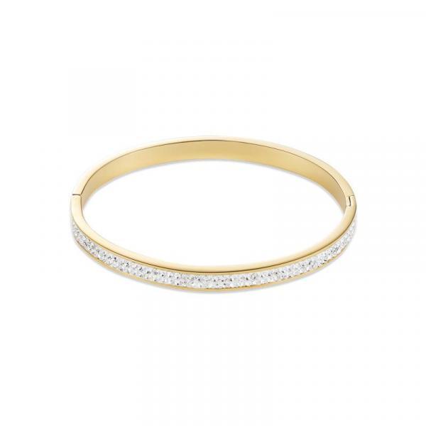 Armreif Edelstahl gold & Kristalle Pavé kristall 0314_37-1800