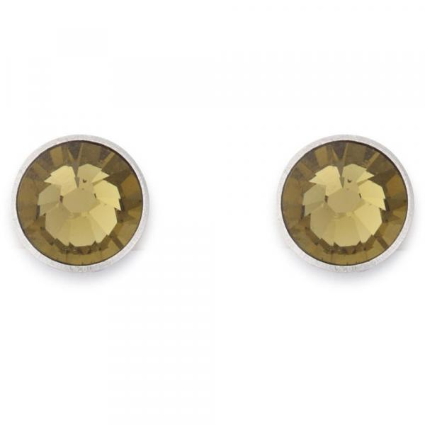 Ohrringe Swarovski® Kristalle olive 0042_21-0900