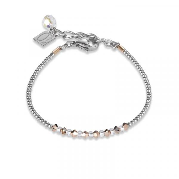 Armband Ring Kristall Pavé kristall small & Edelstahl roségold & silber