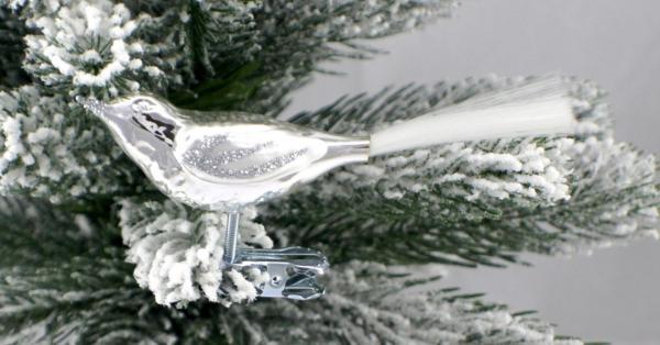 Silber Vogel mit Glasfaser SI_VOG