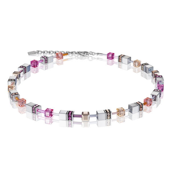 GeoCUBE® Halskette peach-rosa