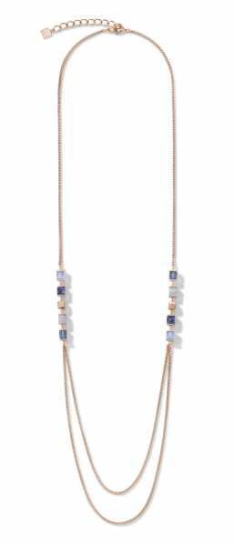 Halskette GeoCUBE® & Kette large blau