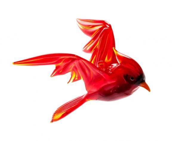 Rotkardinal aus Glas zum Hängen BC-ROK