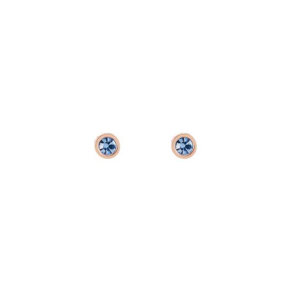 Ohrringe Kristall & Edelstahl hellblau