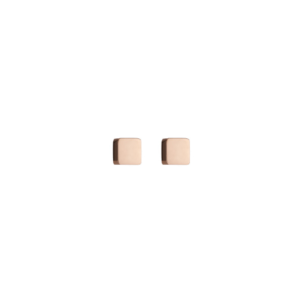 Ohrringe Quadrat Edelstahl roségold 0400_21-1620
