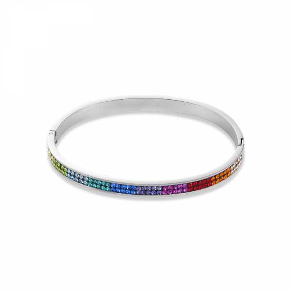 Armreif Edelstahl & Kristalle Pavé multicolor