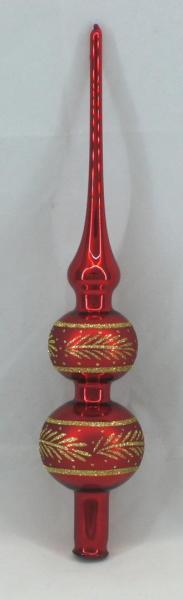 Rot Spitze mit 6er und 5er Kugel (H:32cm) R_SP65