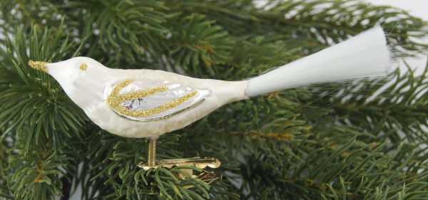 Eischampagner Vogel mit Glasfaser Feder